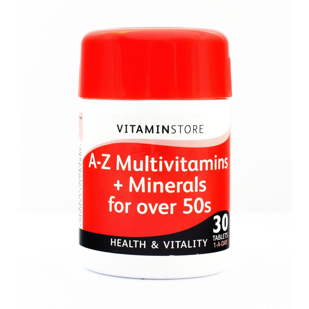 A-Z MULTIVIT + MINERALS 50+ TABLETS 30S