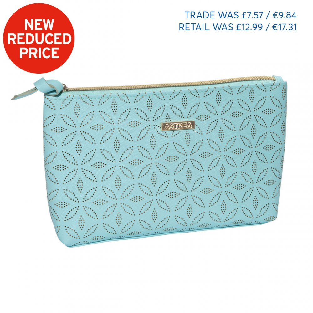 LA SAVINA LARGE COSMETIC BAG BLUE