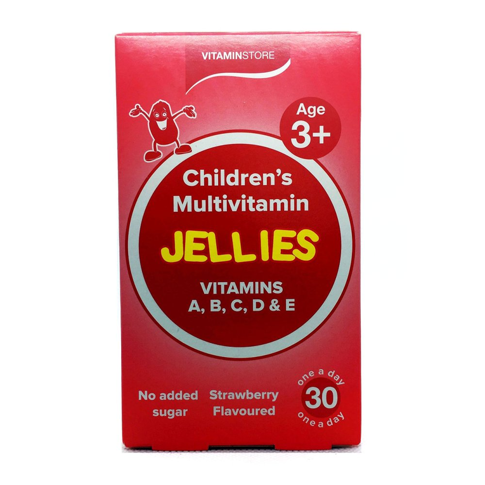 CHILDREN'S JELY VITS ACDE STRAWBERRY 30S