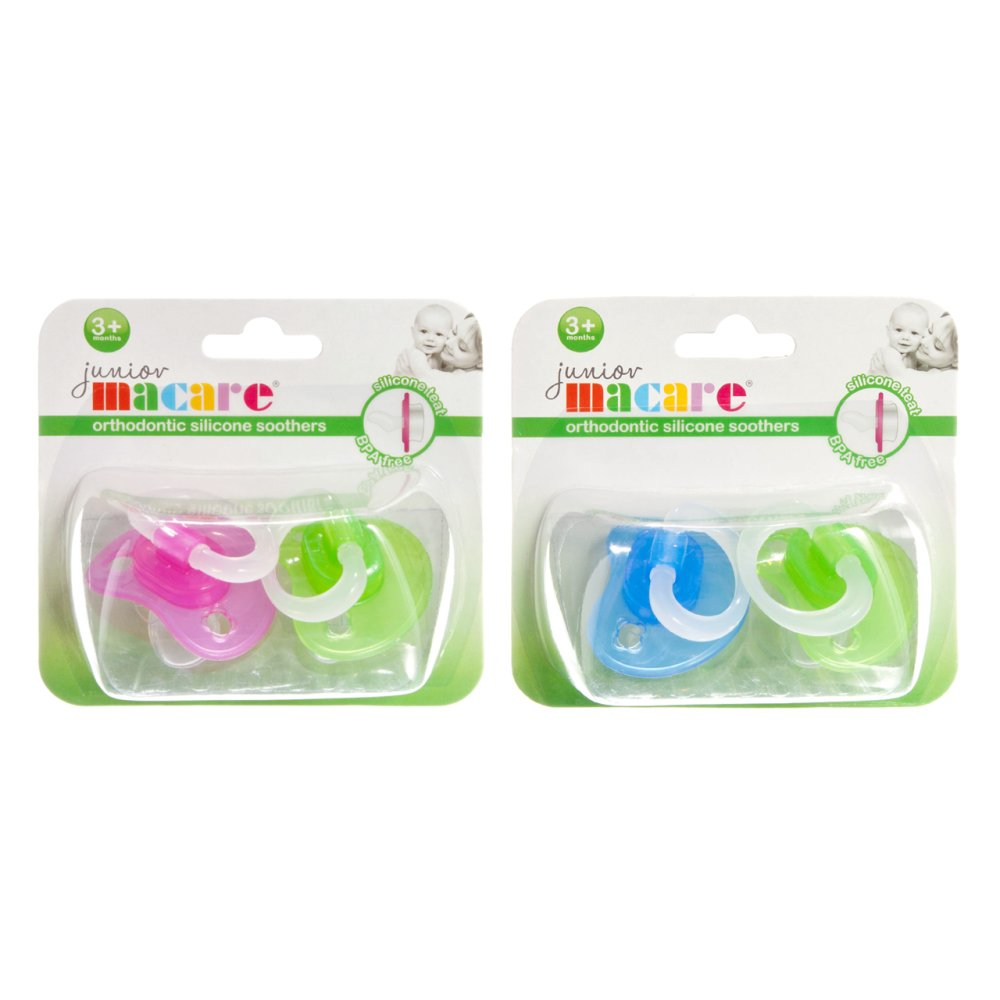 ORTHODONTIC SILICONE SOOTHERS 2 PC