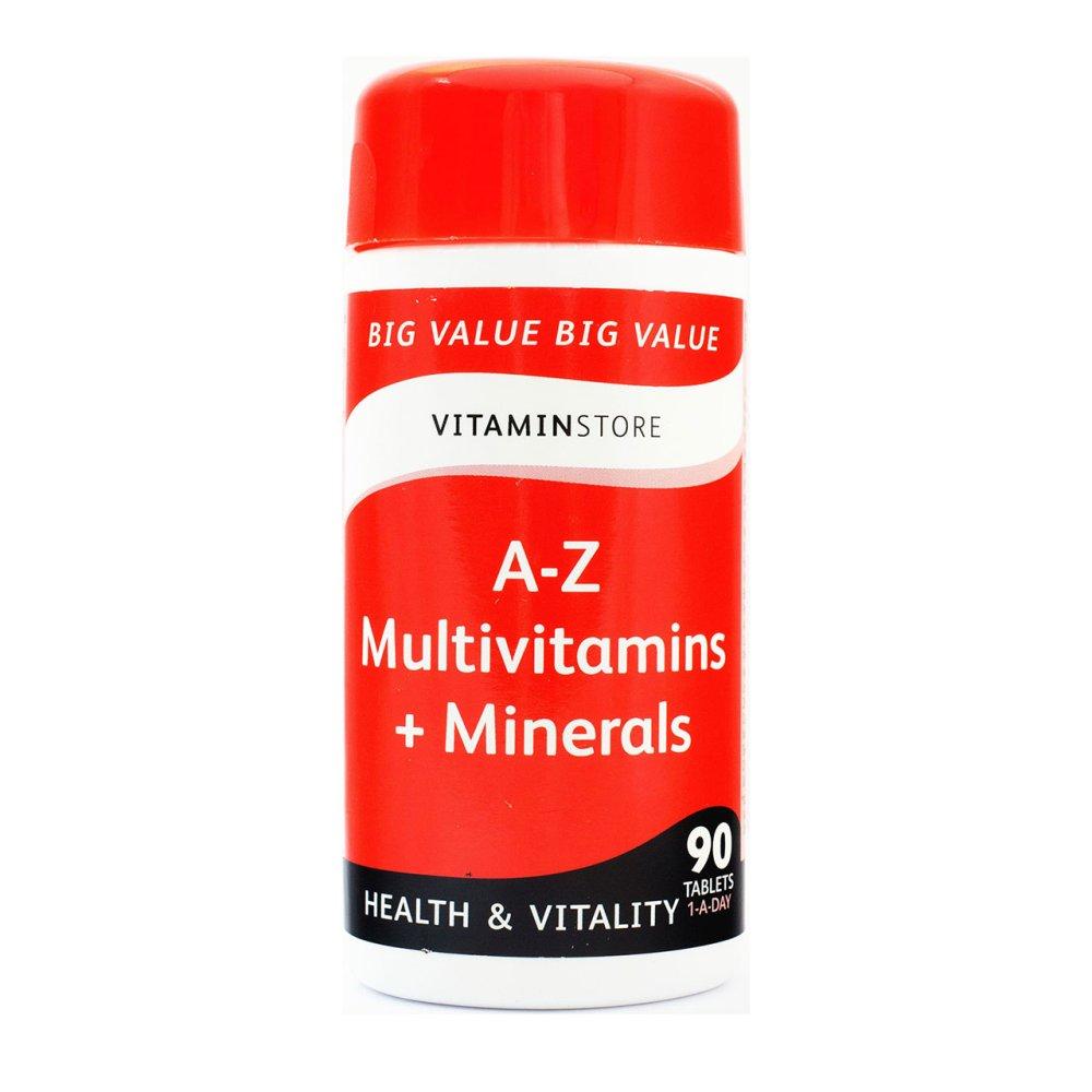 A-Z MULTIVITAMIN + MINERALS TABLETS 90S