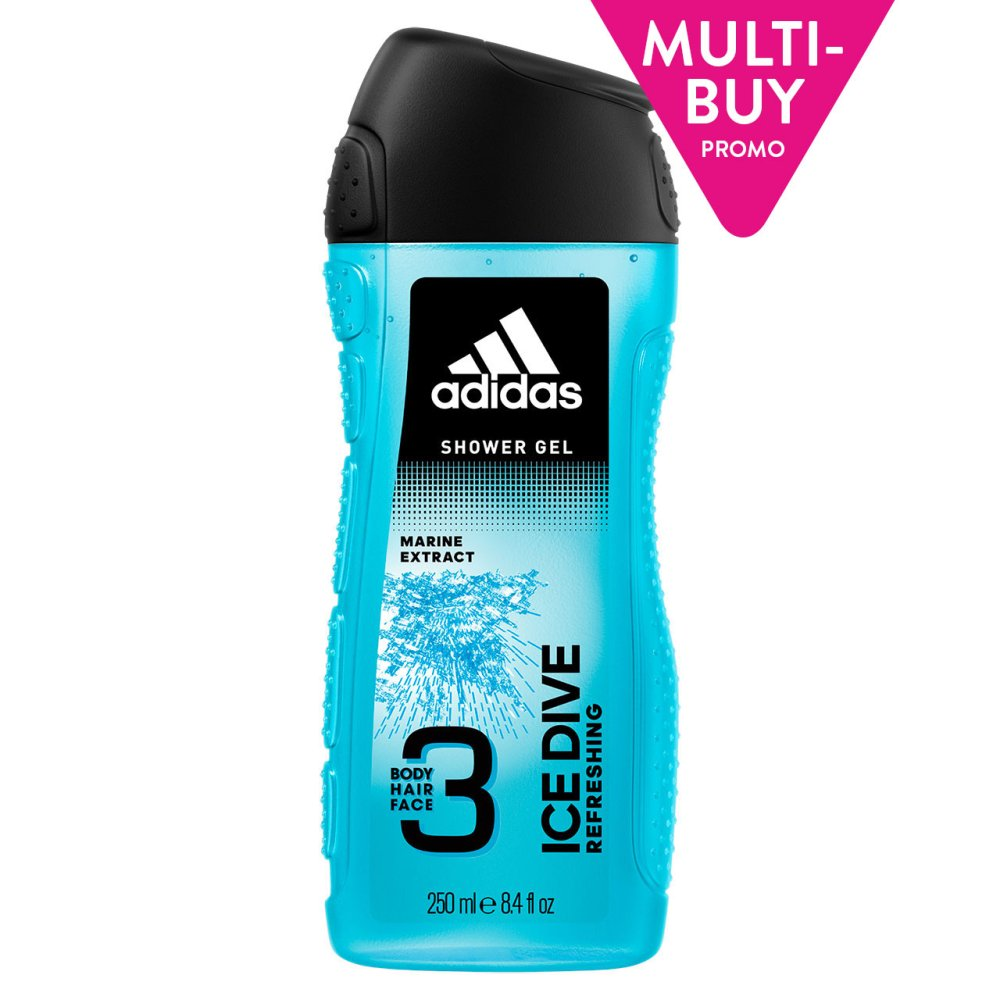 ADIDAS 3 KING ICE DIVE SHOWER GEL 3IN1