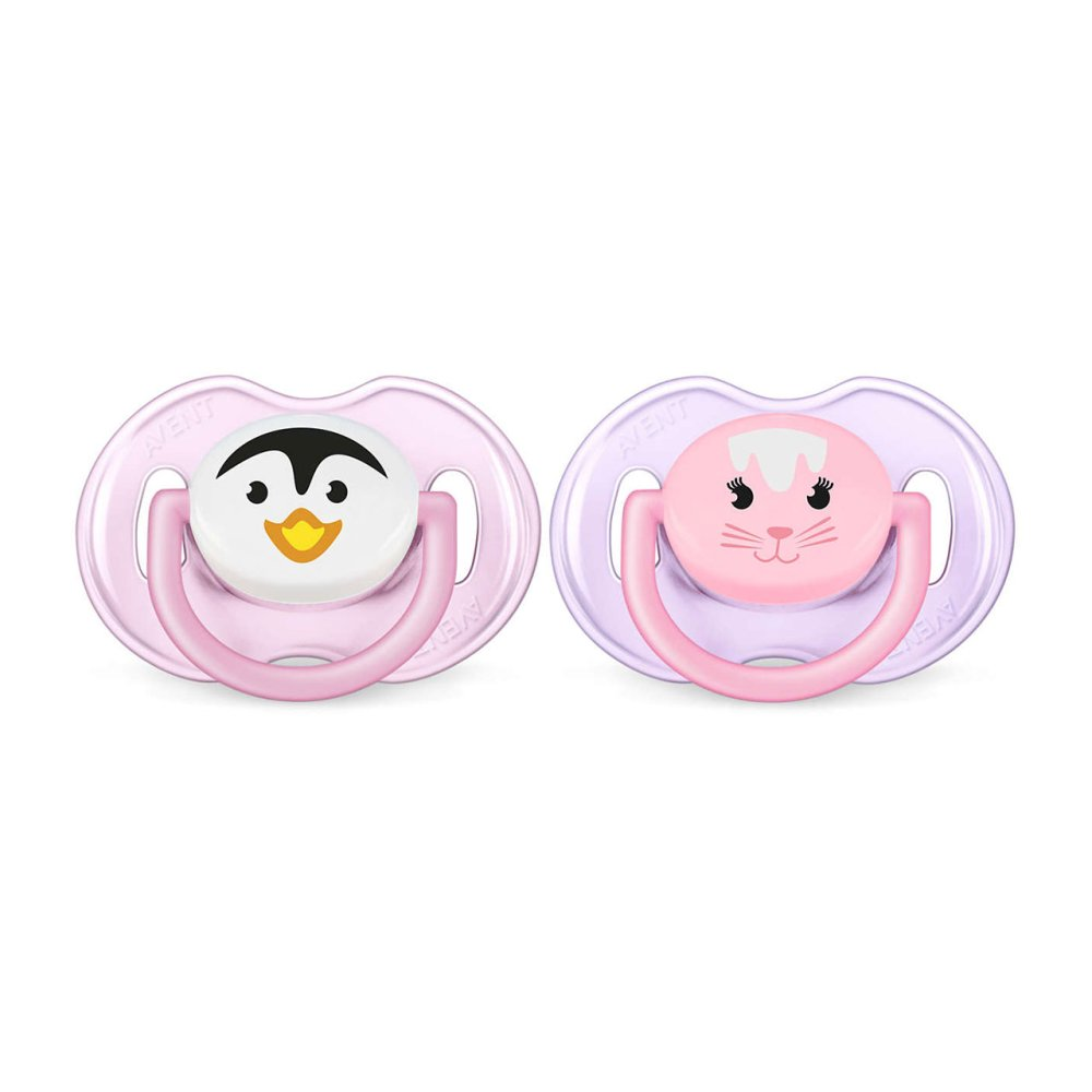AVENT SOOTHER 0-6M X2 PINK