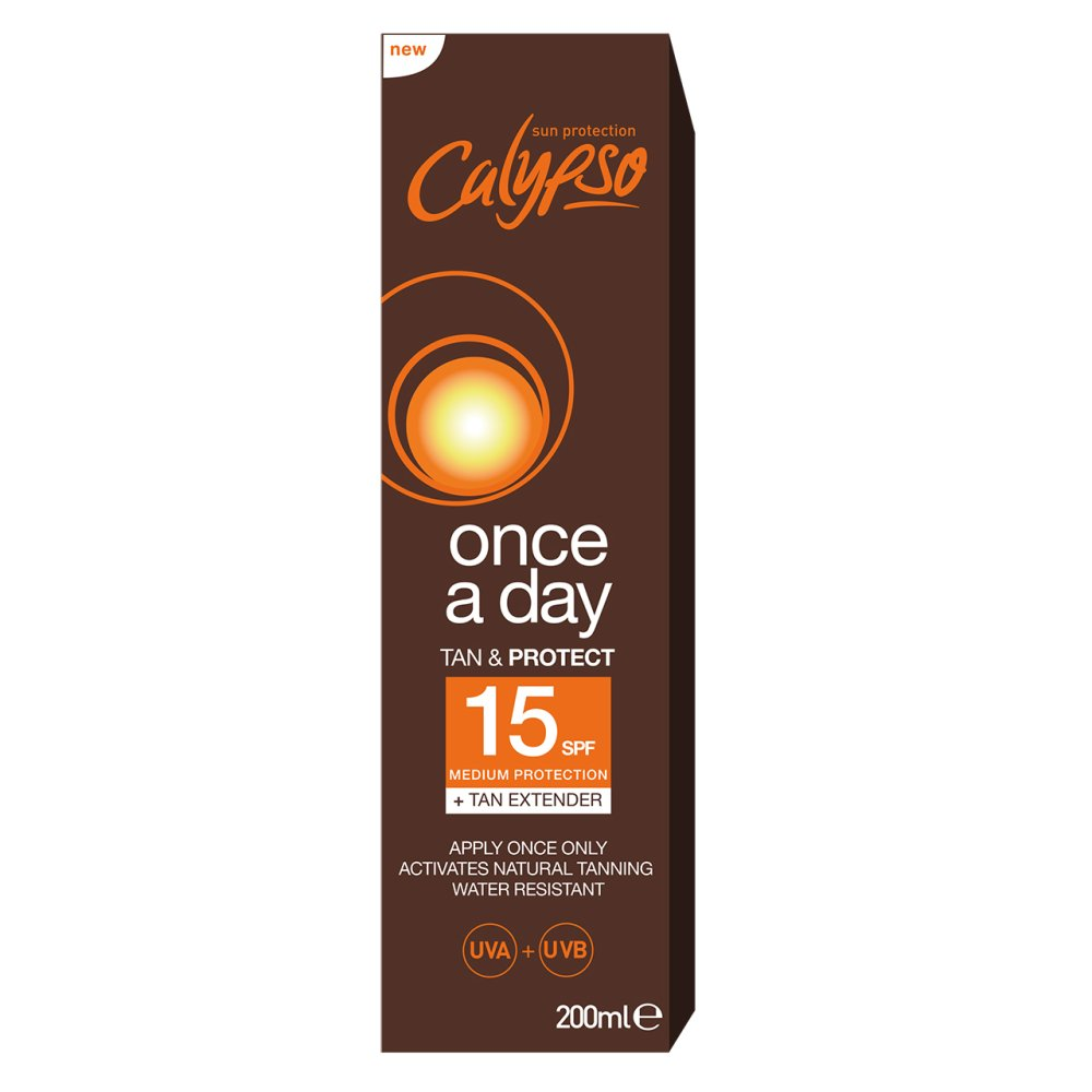 CALYPSO ONCE A DAY TAN & PROTECT SPF15
