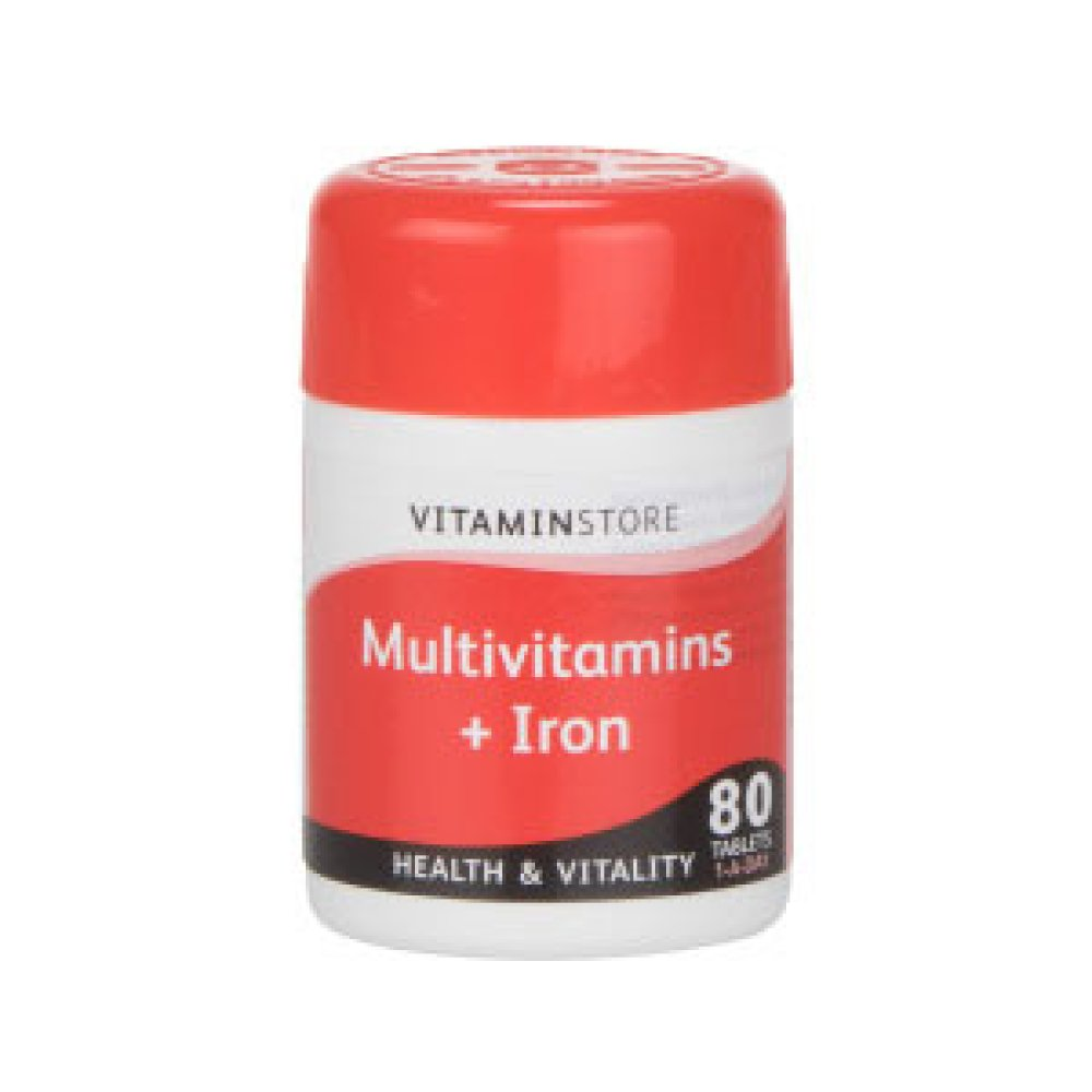 MULTIVITAMINS AND IRON TABLETS 80S