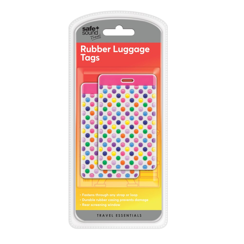 PAIR OF RUBBER LUGGAGE TAGS