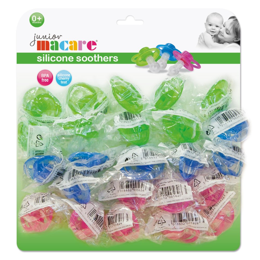 MULTICARD SILICONE SOOTHERS 25 PC
