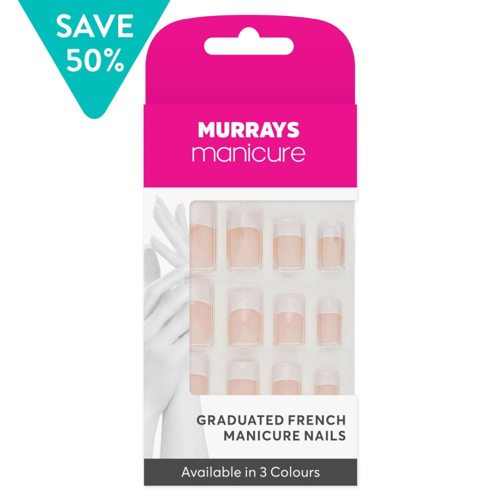 FRENCH MANICURE NAILS 24 PC