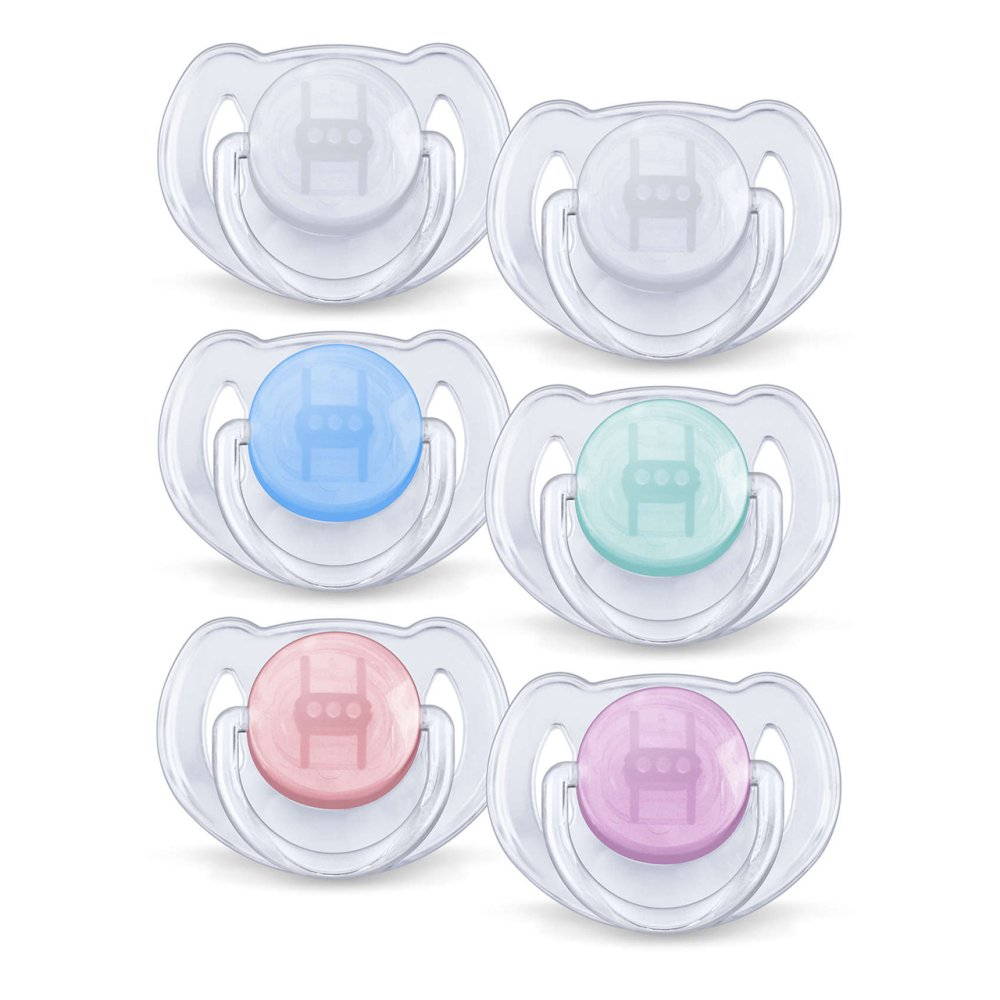 AVENT SILICONE SOOTHER TRANS 6-18M