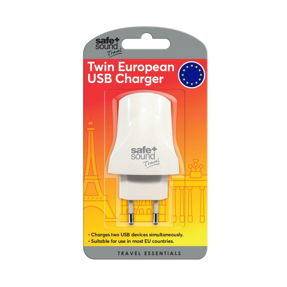 DUAL USB EURO ADAPTOR