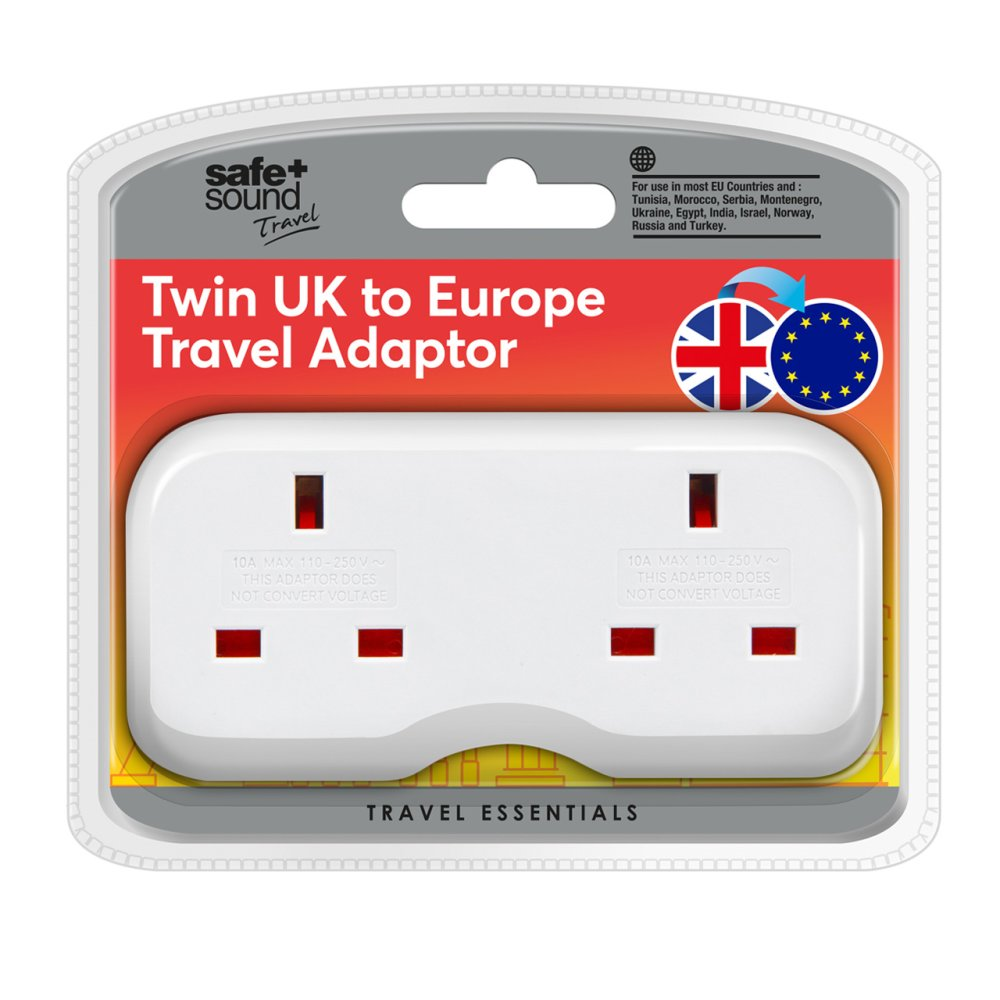 EURO TWIN ELECTRICAL TRAVEL ADAPTOR