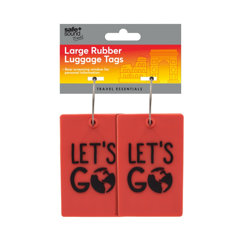 LARGE RUBBER LUGGAGE TAGS