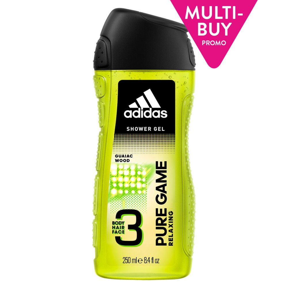 ADIDAS 3 KING PURE GAME SHOWER GEL 3IN1