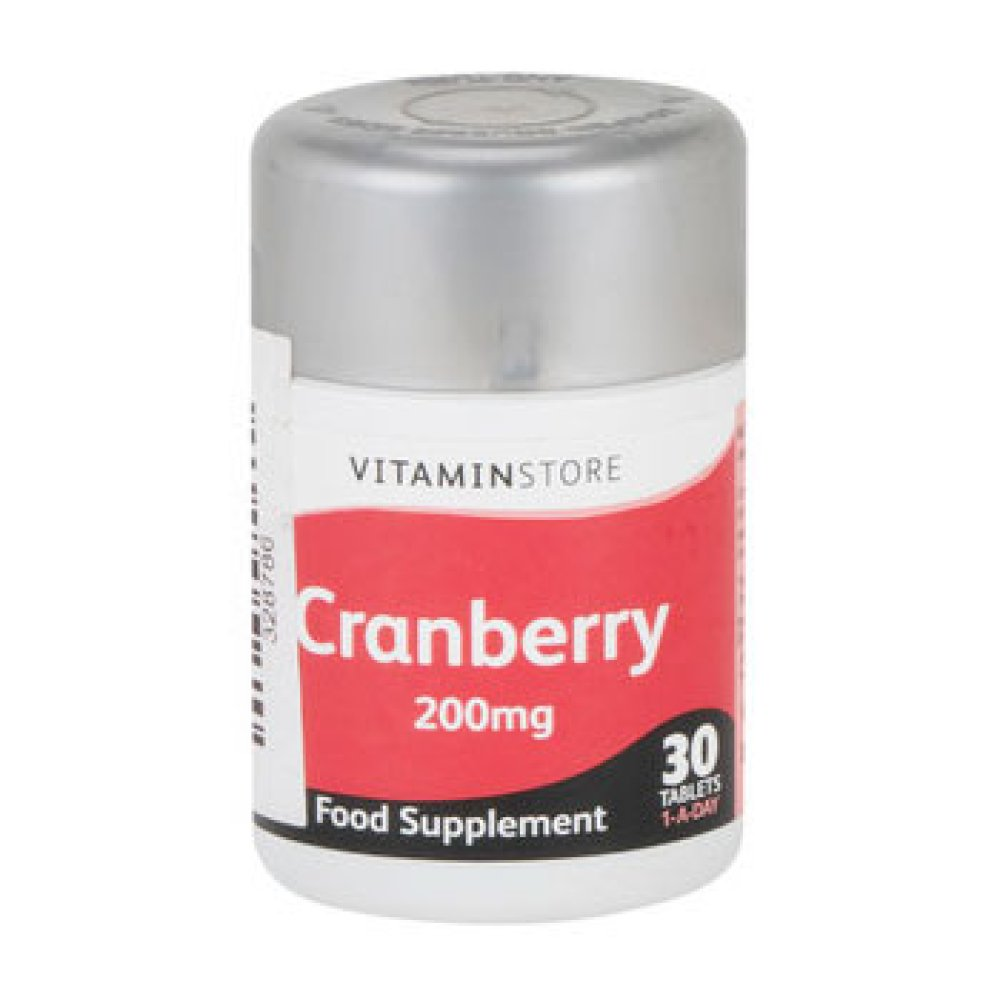 CRANBERRY 200MG TABLETS 30S