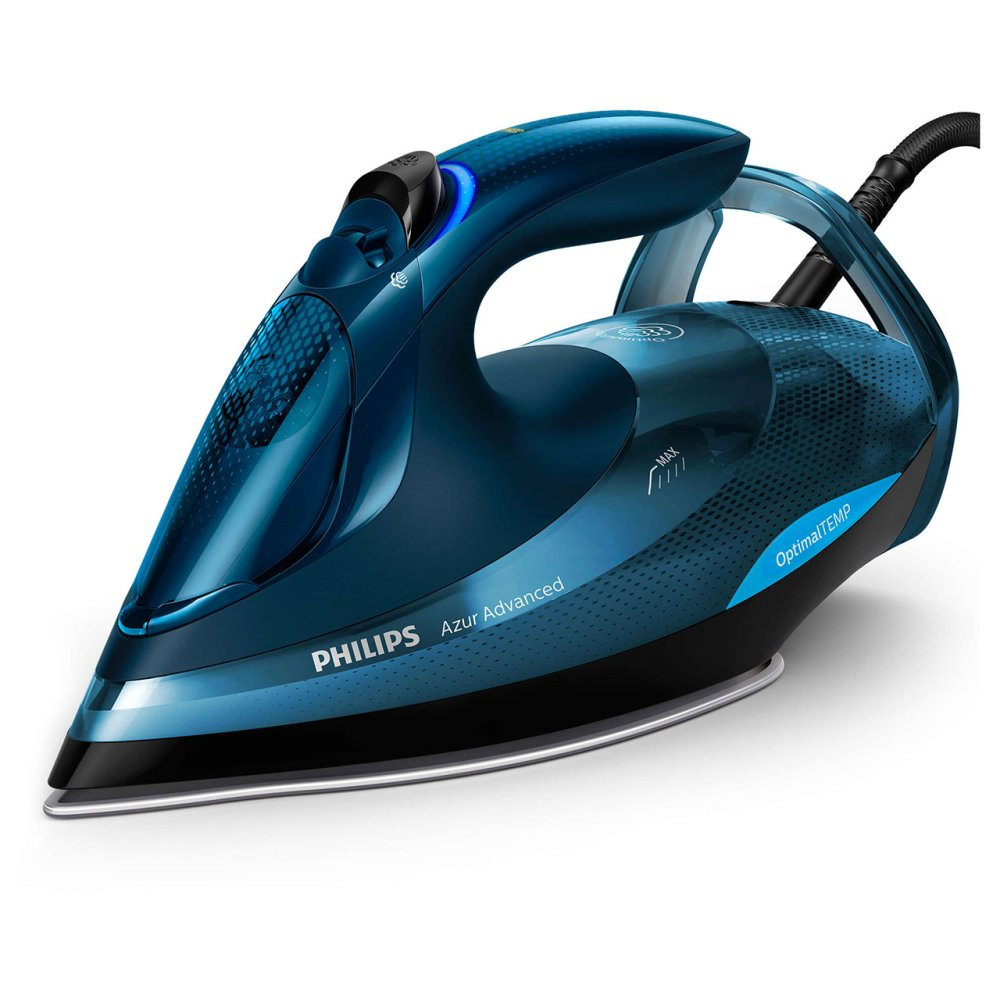 PHILIPS AZUR ADVANCED STEAM IRON BLACK AND TEAL