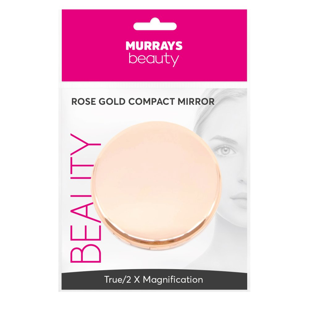 ROSE GOLD COMPACT MIRROR X2 MAG